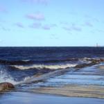 Ветренное утро в устье Даугавы