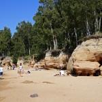 Красоты рижского залива (песчаные скалы)