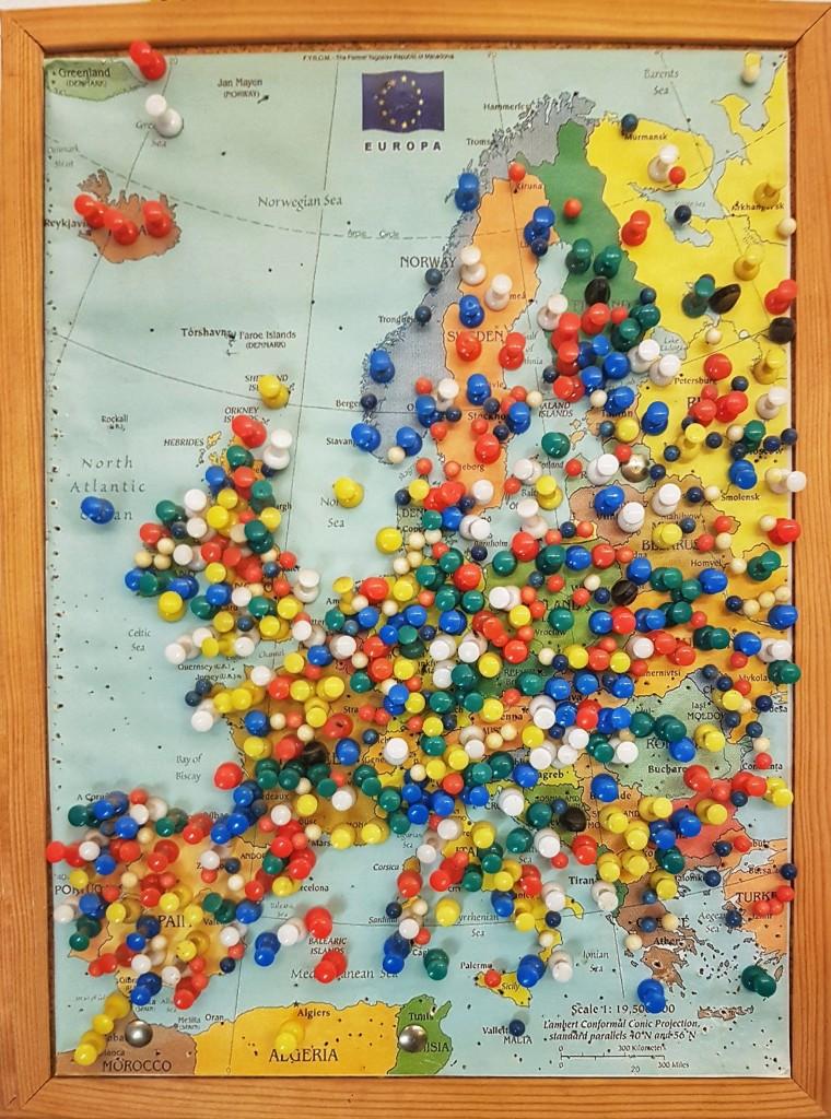 Посетители штрудельной - со всей Европы!